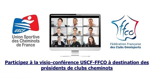 Visio-Conférence USCF-FFCO pour les clubs cheminots