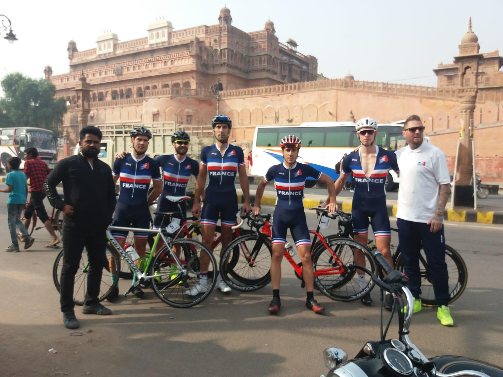 L'équipe de France USCF Cyclisme remporte l'USIC de Cyclisme par équipe en Inde !!!
